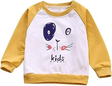 beautyjourney Bebé Niña Niño Camisa de Entrenamiento Jersey de Manga Larga con Estampado de Dibujos Animados Camiseta Ropa de Bebé Tops: Amazon.es: Ropa y accesorios