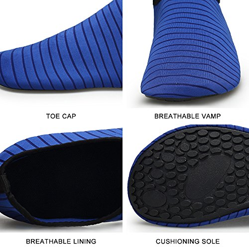 Beach Quick Swim and Yoga Barefoot QLEYO Water Shoes Shoes for Dry surf Shoes for Water Women Men Shoes Blue Skin 77a0E