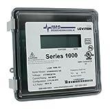 Leviton 1R480-11 Series 1000, Dual Element Meter, 277/480V, 2PH, 3W, 100:0.1A ratio, Max 100A, Small Outdoor Enclosure, Gray