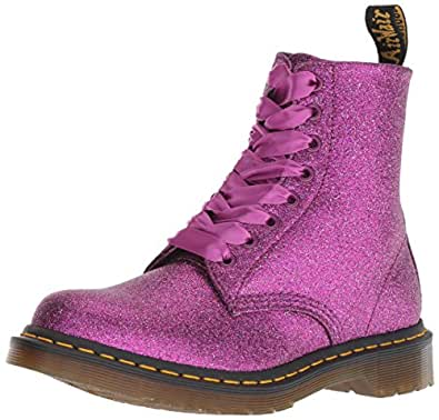Dr. Martens Womens 1460 Pascal Glitter Purple Size: 5
