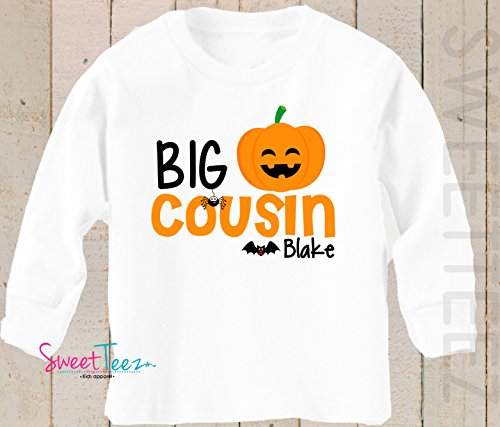 Big Cousin Halloween shirt Personalized with Name Pumpkin -