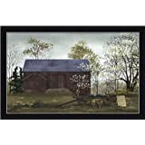 Flower Wagon by Billy Jacobs Red Barn Country Farm 21.5x13.5 in Framed Art Print Picture