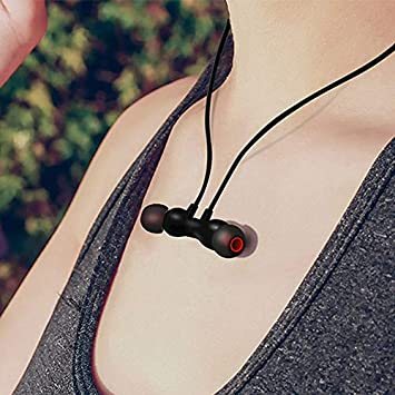 Earphones Bluetooth Wireless – Neckband Headsets Built-in Mic Sweatproof HD Stereo Noise Cancelling Earbuds – 8 Hours of Playing Sports Earphones, Suitable for Cycling, Gym Running, Walking Cylinde