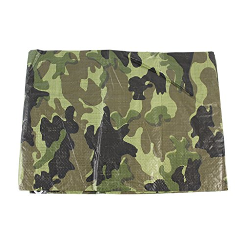 Sgt Camo (SGT KNOTS Poly Tarp - Available in 24 different sizes - 6 diffrent colors / thicknesses (Camo - 8'x10'))