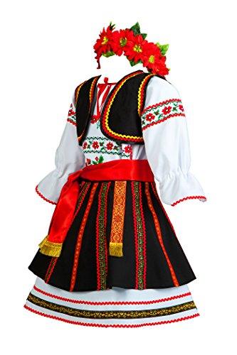 Romanian costume girls folk dress Moldova dancewear Slavic attire