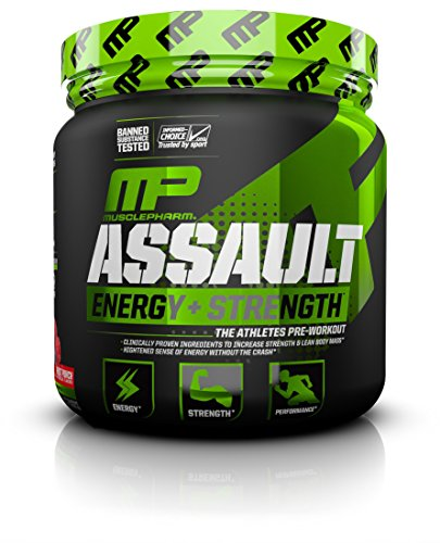 MusclePharm Assault Sport Nutrition Powder, Fruit Punch, 30 ...