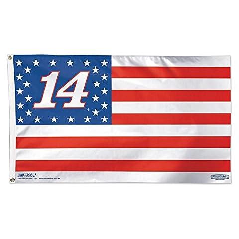 Tony Stewart Stars & Stripes Flag - Deluxe 3' X 5' Foot Nascar #14 (Garden Flag Tony Stewart)