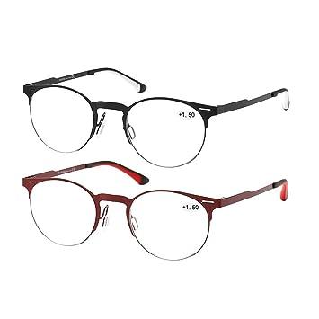 c17fc42916 K KENZHOU Reading Glasses 2 Pack for Men Women Computer Readers Glasses  Ultra-Clear