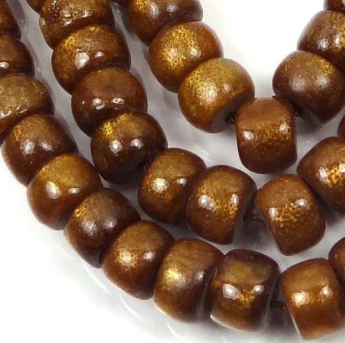 - 7-8x5mm Natural Golden Sponge CORAL Rondelle Beads 16''