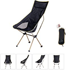 H&M Folding Camping Chair Breathable Mesh Wear Resistant for Campers Hiking Adventure