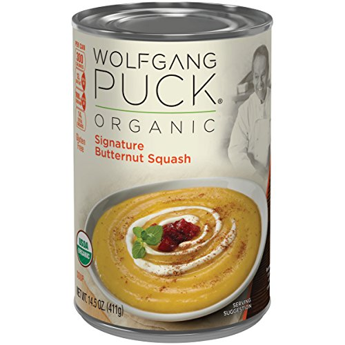 Wolfgang Puck Organic Signature Butternut Squash Soup, 14.5 Ounce (Pack of 12) (Packaging May Vary)