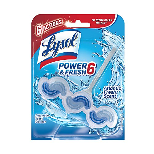 Lysol Power & Fresh 6 Automatic Toilet Bowl Cleaner, Atlantic Fresh, 1ct (Bowl 1)