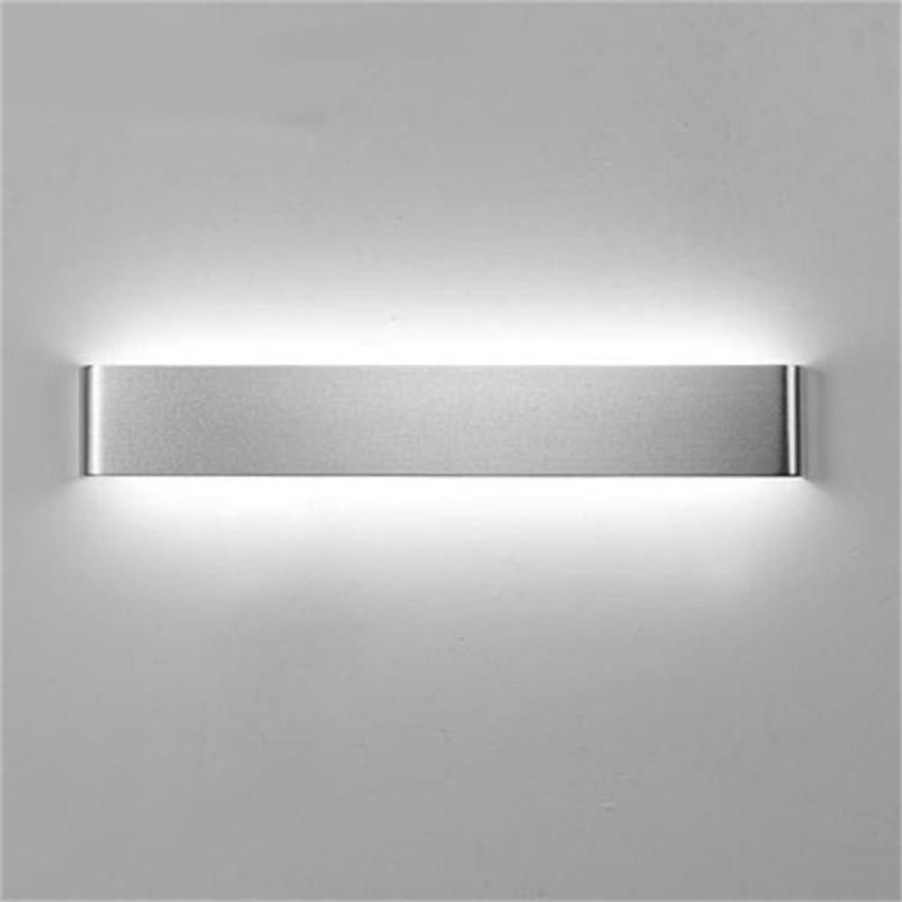 Wandleuchte Moderne Und Einfach, LED Wandleuchte, Aluminium, Ganglichter, Kreativität, Bad WC, Spiegel Vorderen Leuchten,Silber-12W