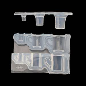 20pcs Moldes de silicona de posavasos fundici/ón de epoxy molde de piedra de cristal de caja de baratijas Sakura para resina cenicero almacenamiento de joyas collar con taza medidora palitos de madera