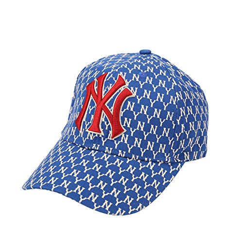 Unisex MLB Yankees Baseball Cap - Adjustable New York Fashion Hip Hop Hat with Embroidery Blue]()