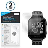 Garmin Approach S20 Screen Protector, BoxWave® [ClearTouch Crystal (2-Pack)] HD Film Skin - Shields From Scratches for Garmin Approach S20