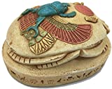 Egyptian Scarab Beetle Rising Sun Home School Hieroglyphs Paperweight 1.2 lbs