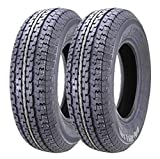 10 PR load range E Set of 2 Heavy Duty Trailer Tires ST205//9R15 7.00R15