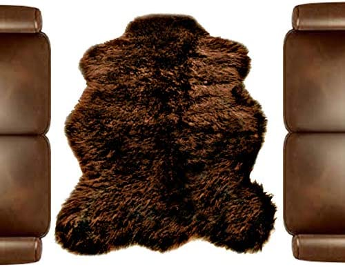 Fur Accents Faux Fur Brown Bear Rug - the best living room rug for the money