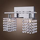 Lightinthebox 25w G9 Crystal and Metal Wall Lamp with 2 Lights Wall Sconces Wall Lamp