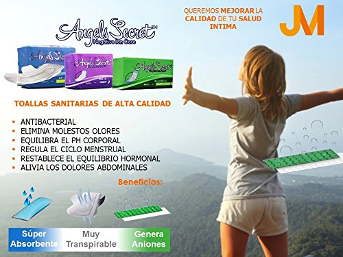 Amazon.com: Angels Secret - Sanitary Napkins with wings - Night use 8 pads: Health & Personal Care