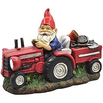 Amazon Com Garden Gnome Statue Plowing Pete Garden