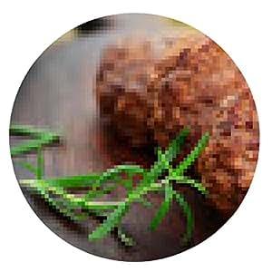 alfombrilla de ratón albóndigas - ronda - 20cm