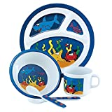 Under The Sea 5 Piece Children's Melamine Mealtime Set