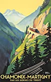 Chamonix - Martigny Vintage Poster (artist: Broders, Roger) France c. 1930 (24x36 Giclee Gallery Print, Wall Decor Travel Poster)