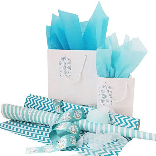 Exclusive Trend Setting Gift Wrapping Set - Turquoise Unicor