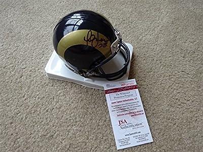 Marshall Faulk Signed Auto St Louis Rams Mini Helmet Jsa Autographed