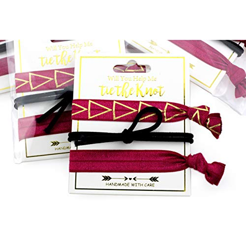 - Midi Ribbon Daily Basic Classic Triangle Favors (3 x 5 Pack) Wine and Black Party Bachelorette Decorations and Supplies, Hair Ties
