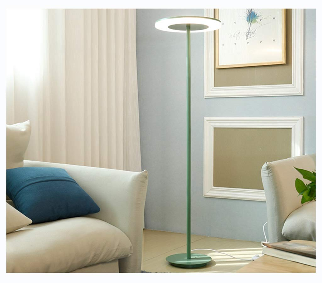 QPSGB シンプルでクリエイティブなマカロンフロアランプスタンダードランプ、リビングルームベッドルームの仕事読書アイプロテクションLED -4862 フロアランプ (色 : 緑) B07R8NPLSJ 緑