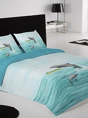 Funda Nordica Delfines.Euromoda Juego De Fundas Nordicas Delfines Azul Cama 150