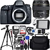 Cheap Canon EOS 6D Mark II DSLR Camera with Canon 85mm f/1.8 EF USM Autofocus Lens and SanDisk 128GB Ultra UHS-I Class 10 SDXC Memory Card + 72 Full-Size Tripod + More (International Version No Warranty)