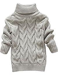 JELEUON Little Girls Baby Solid Color Turtleneck Sweater Soft Knit Warm Sweatshirt