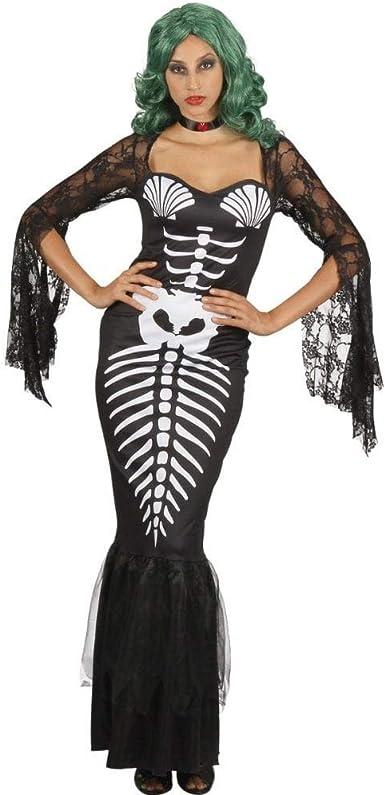 Bristol Novelty AF095 - Esqueleto de sirena para mujer, color ...