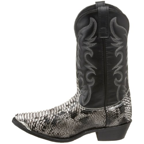 Laredo Men's 68067 Monty Western Boot,Black / White,11 XW US