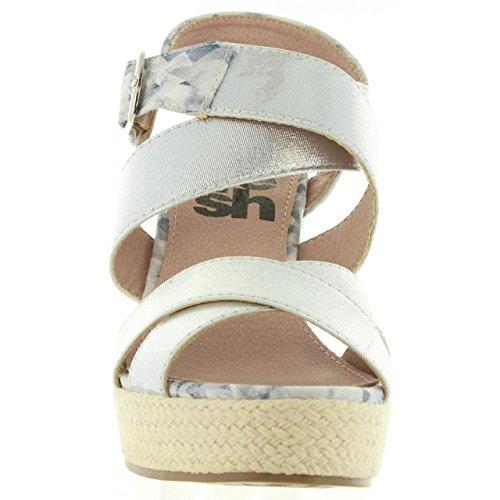 Femme Elastico Pour Plata Sandales Refresh 63299 wA7FExq