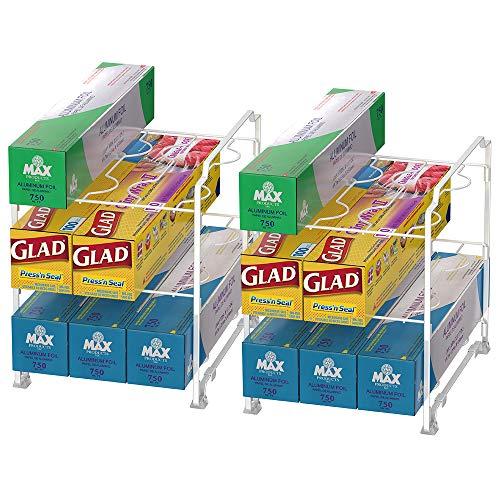 NEX Kitchen Wrap Organizer Rack - 2 PACK ()