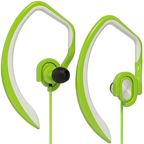 Earphone Headphone Green (Artix Sport Workout Earbuds Headphones XJR, Built-In Microphone In-Ear Stereo Lightweight Wired Sweat-Proof Earphones, For Work, Travel, Running, Exercise, works w/Smartphones, iPhone Android Green)