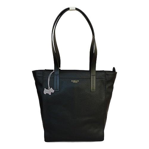 RADLEY 'Bourton' Black Large Leather Shoulder Bag - RRP £239