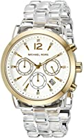 Michael Kors Women's Audrina MK6200 Gold-Tone Watch with Clear Bracelet
