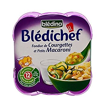 Bledina Koch Fondu Von Zucchini Und Mini-Makkaroni (12 Monate) 2 X 230G - Packung mit 6