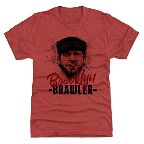 500 LEVEL's Brooklyn Brawler Premium T-Shirt S Tri Red - Brooklyn Brawler Paint R - Officially Licensed by Pro Wrestling Tees (Tee Brawlers)