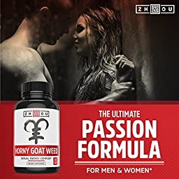 PremiumHornyGoat Weed Extract with Maca & Tribulus, Natural Sexual Energy & Passion Complex for Men & Women, 1000mg Epimedium with Icariins, Veggie Capsules