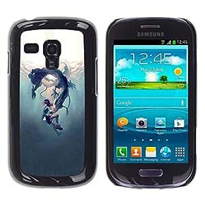 For Samsung Galaxy S3 III MINI (NOT REGULAR!) / I8190 / I8190N Case , Underwater Fairytale Story Kids - Diseño Patrón Teléfono Caso Cubierta Case Bumper Duro Protección Case Cover Funda