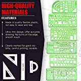 Hilitchi 16 Pcs Pack Plastic Measuring Templates