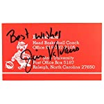 3bc29efd RARE JIM VALVANO SIGNED NORTH CAROLINA N.C. STATE HEAD COACH BUSINESS CARD.