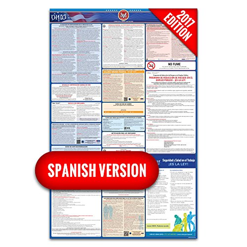 2017 Ohio (Spanish) Labor Law Poster – State & Federal Compliant – Laminated